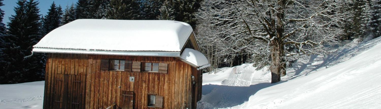 Ferienhütte Birihof Winter