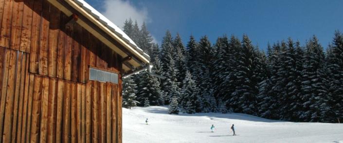 Ferienhütte Birihof Skipiste