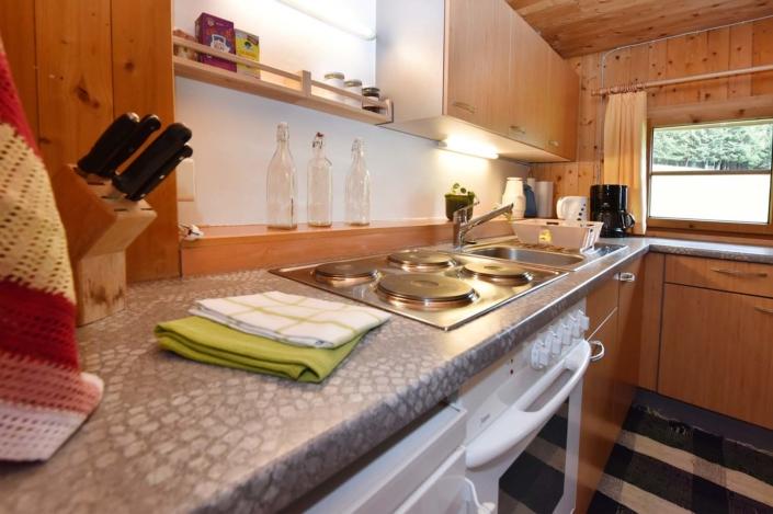 Küche Ferienhütte Birihof